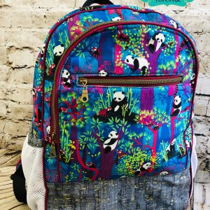 Blue Panda Backpack