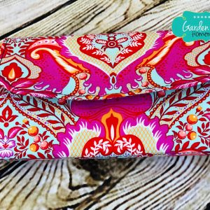 Flip Clutch Wallet - Frog Prince in Peony